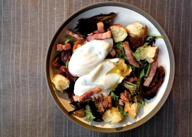 Salade Lyonnaise, aka the best salad ever
