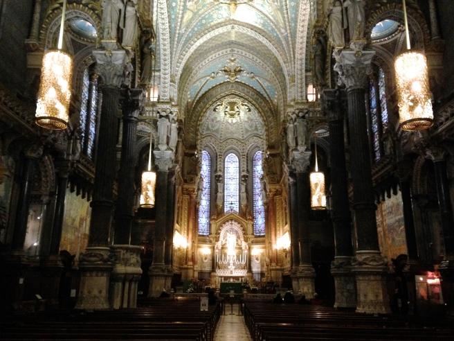 la Basilique Notre-Dame de Fourvière in Lyon, France