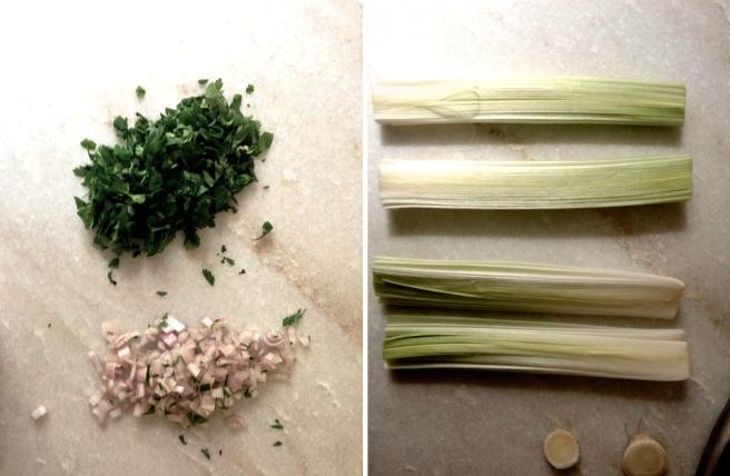 leeks and lentils vinaigrette